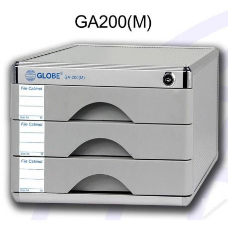 地球牌 GA200M 桌上型文件櫃連鎖 三層 A4