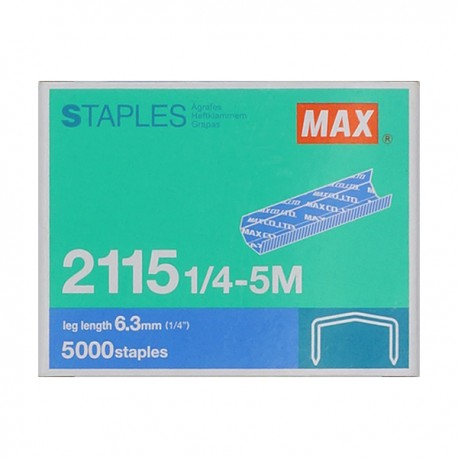 Max 美克司 2115-1/4 B8 釘書釘 5000枚